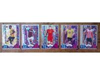 Match Attax. 5 x 2016/17 cards