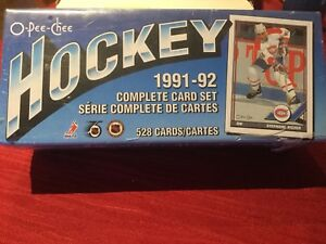 1991-92 OPC HOCKEY NHL COMPLETE SET 1-528 NEW factory sealed