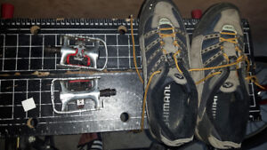 Shoes 10.5 and pedals Mountain Bike