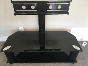 Glass TV stand for large TV