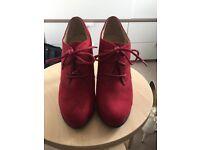 Graceland Suede Heeled Ankle Boots UK Size 6