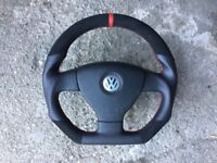 VW GT GTI R32 R-LINE GOLF PASSAT CADDY TOURAN CUSTOM MADE STEERING WHEEL