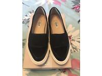 Clark's black shoes size 6