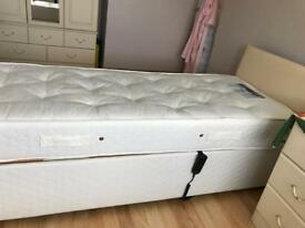 Dreams nimbus electric adjustable single bed with mattress & headboard