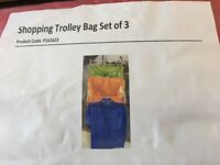 Trolley bags - set of 3 reusable supermarket shopping bags