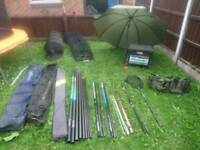 Fishing set up all wots in pictures 12.5m pole 2x rods etc