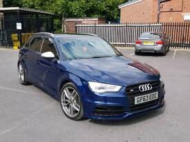 2014 AUDI S3 2.0 TFSI AUTO S TRINIC DSG 5 DOOR SPORTBACK ESTORIL BLUE HPI CLEAR LOW MILEAGE