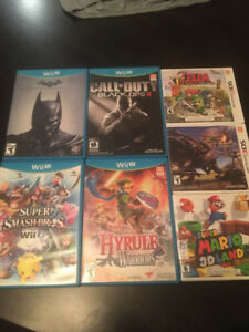 WiiU + 3DS Games for sale