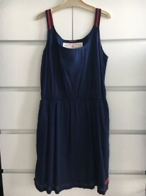 Like new SUPERDRY navy cotton day dress. Size Xs (6-8uk)