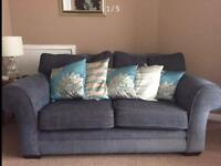 3 piece suite. Sofa, chair and electric reclining chair