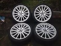 """FORD FOCUS 19"""" RS WHEELS AND TYRES IMMACULATE 5MM TRED CONTINENTALS"""