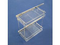 300mm base unit wire storage pullout with 2 shelves.