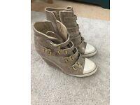 Designer,Ash boots,trainer wedges, size 4