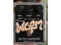 Electro Harmonix The Worm analog modulation pedal - tremolo, phaser, vibrato, wah