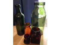 Lot/Collection of Vintage/Antique Bottles, Retro, Glassware