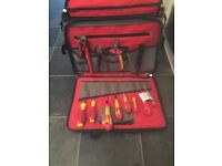 Electrician C.K & Wiha hand tools with C.K bag