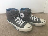 Grey and Blue High Top Converse All Stars