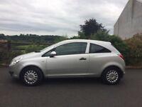 Silver Vauxhall Corsa