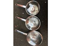 3 x Morphy Richards Cooking Pots/Pans DELIVERED JUST £10.00