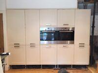 Kitchen units - Howden's Burford cream units 2 Bosch ovens