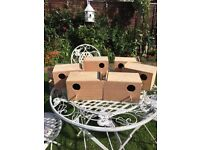 6 used budgie nest boxes