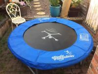 6ft trampoline with enclosure and protective cover - used just a couple of times by small grandson.