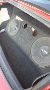2 12 inch subwoofers in a box