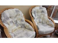 4 x Wicker Conservatory Chairs + Table