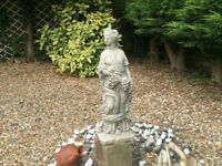 Stone Lady Figurine Garden Ornament