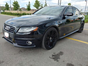 2010 Audi A4 S-Line 2.0T Quattro black in black for sell