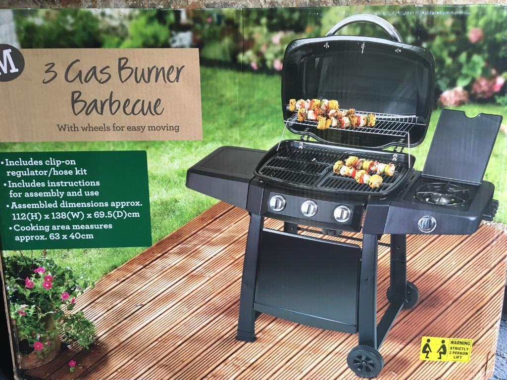 BBQin East Calder, West LothianGumtree - Gas 3 ring BBQ brand new sealed in the box bought for £130 bargain for someone