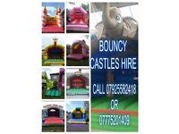 bouncy castles