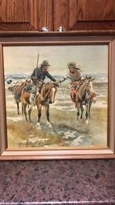 A Doubtful Handshake Art Print by Charles Russell Framed Native