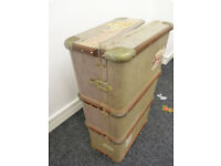 Old wooden suitcase/trunk