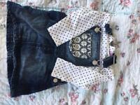Denim dress set (6-9mnths)
