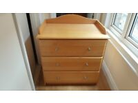 Mothercare baby changing table chest