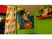 Superman and Spiderman Canvases Pictures