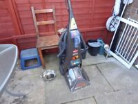 large bissell carpet cleaner spares or repair all working except brush on pipe no air