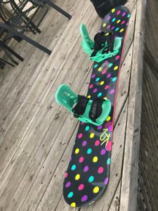 WOMEN'S K2 150 BOARD & ACCESSORIES - EXCELLENT CONDITION