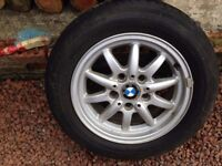 4 BMW 1.6I alloy wheels with tyres