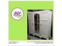 SALE NOW ON!! Large Painted Wardrobe - Can Deliver For £19