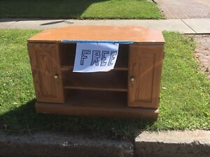 Free TV stand for pick up today