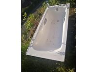 Kaldewei steel bath with fittings still attached