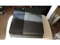 Playstation 4 with Sony 2.0 gold wirless headset and games
