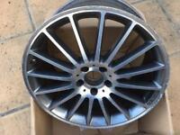 C63 AMG W204 rear alloy 19 cracked damaged
