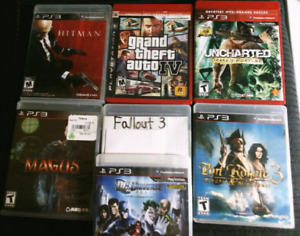 7 PS3 GAMES $5 FOR EACH