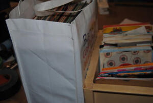 Large lot of 140 various records