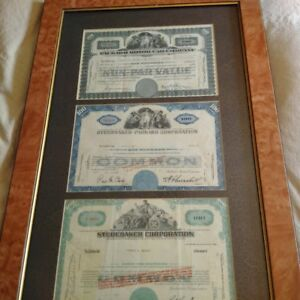 Studebaker and Packard Stock Certificates -