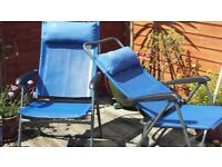 Lightweight reclining garden chairs - Used once!
