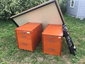 Office desk and file/drawers (make offer)